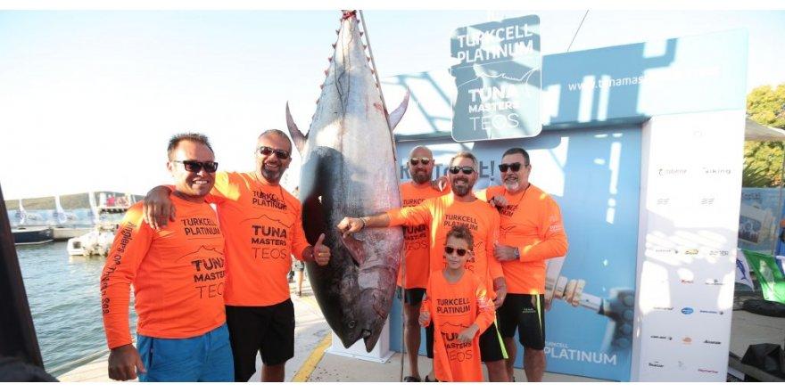 Dev balık dünyayı Teos Marina'ya topladı