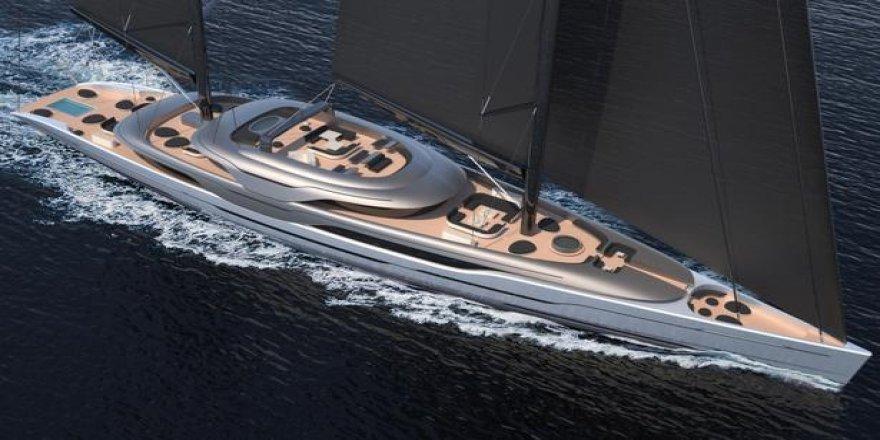 93 metrelik çift direkli yelkenli için güç birliği