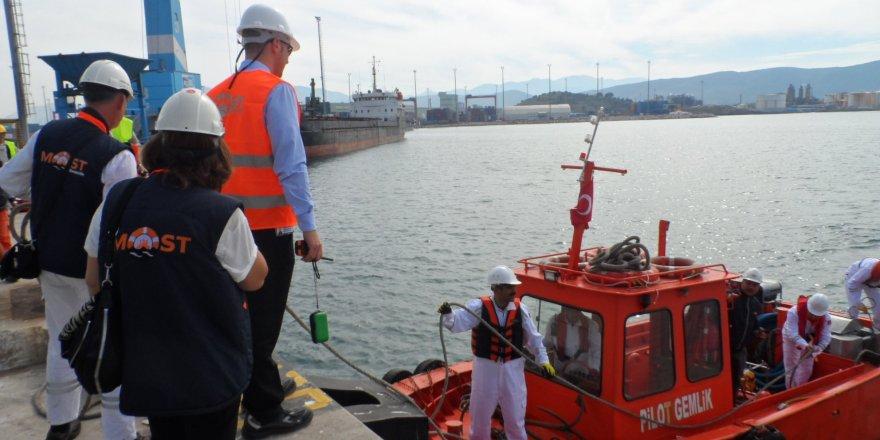 Rodaport'ta deniz kirliliğine karşı tatbikat