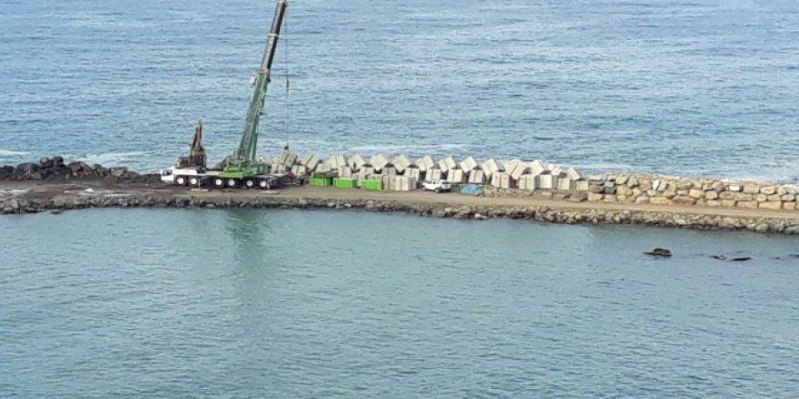 Denizkonak balıkçı barınağında çalışmalar hızlandı