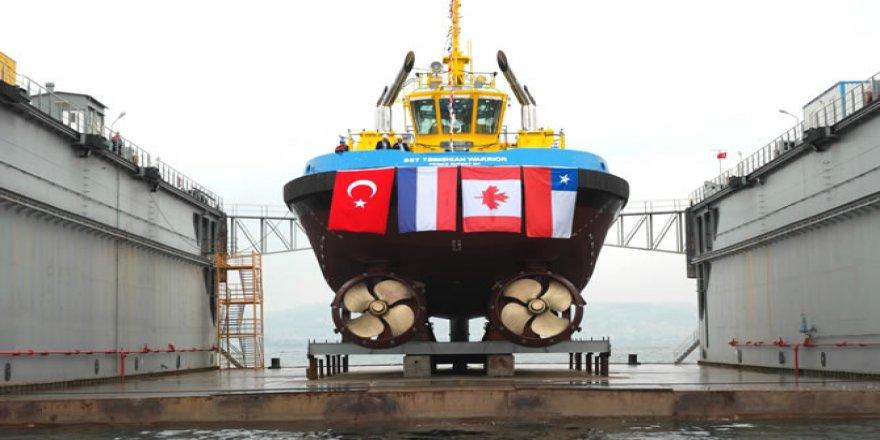 Uzmar yeni inşa ettiği römorkörü denize indirdi