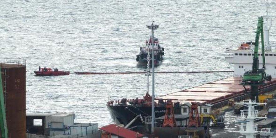 Körfezi kirleten gemi Yalova'da yakalandı