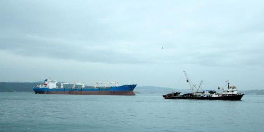 Boğazda gemi trafiğine hava muhalefeti