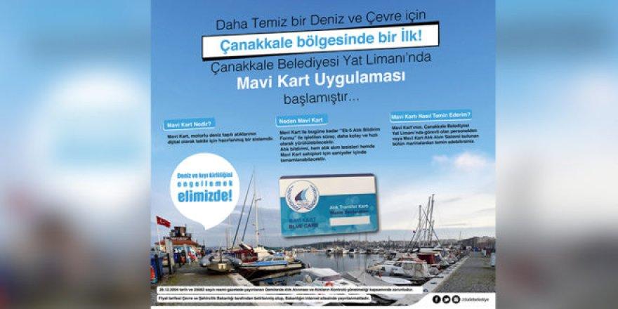 Çanakkale'de Mavi Kart uygulaması
