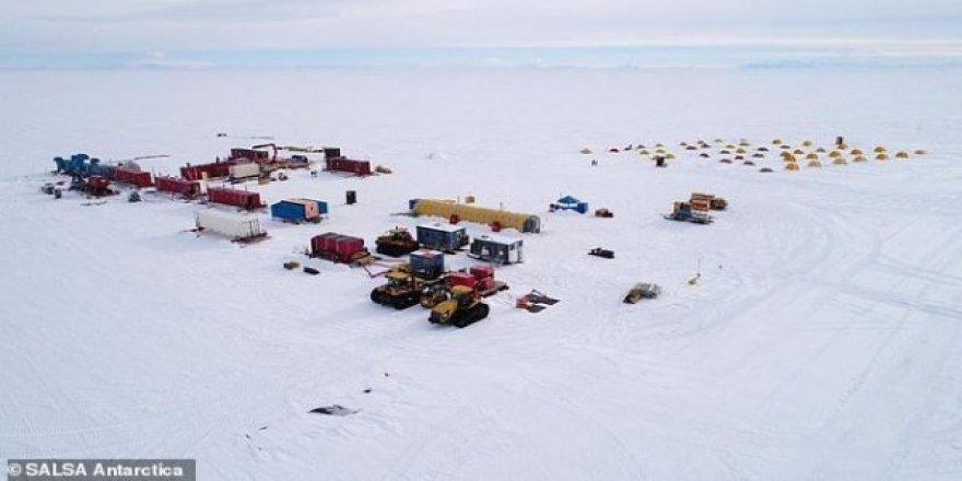 Bin metre buzun altındaki gizemli göle sondaj