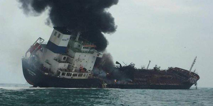 Hong Kong'da kimyasal tankerde patlama