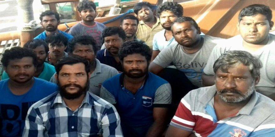 15 Hintli balıkçı serbest bırakıldı