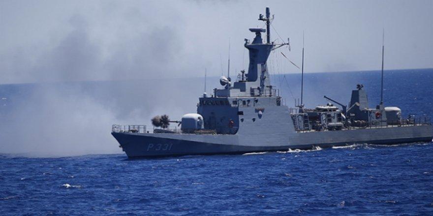 Donanmadan Ege ve Doğu Akdeniz'de atış eğitimi