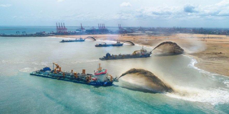 Kolombo Liman Şehri projesinin ilk etabı tamamlandı