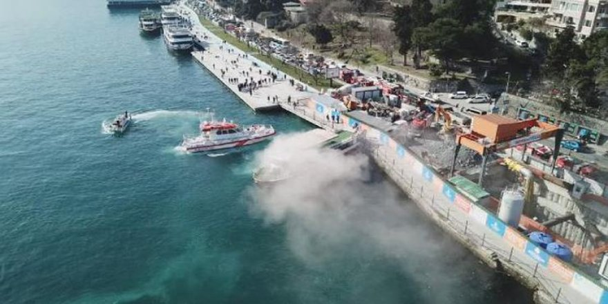 Sarıyer'de tur teknesinde yangın