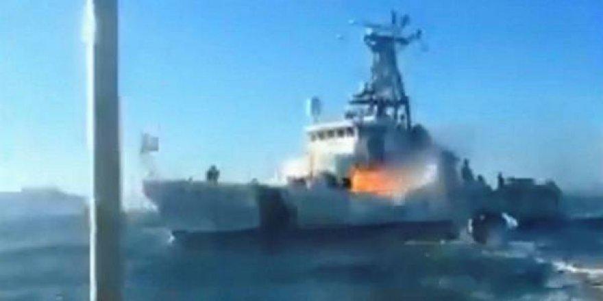 M /V Farley Mowat adlı gemiyi ateşe verdiler