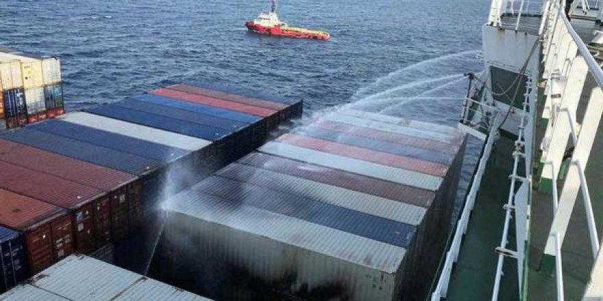 APL'nin gemisindeki yangın kontrol altına alındı