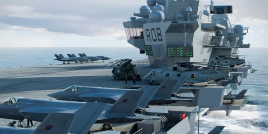 HMS Queen Elizabeth Pasifik'e gidiyor