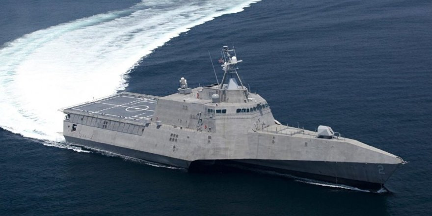 ABD'nin 'görünmez' savaş gemisi suya indirildi!