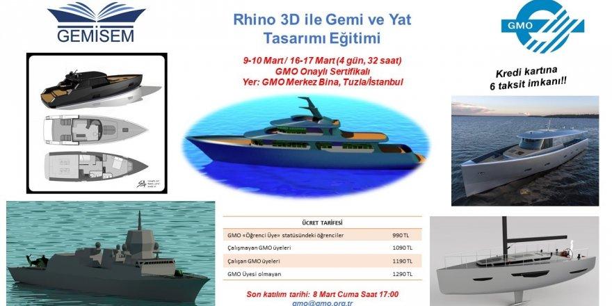 GEMİSEM'den gemi ve yat tasarımı eğitimi