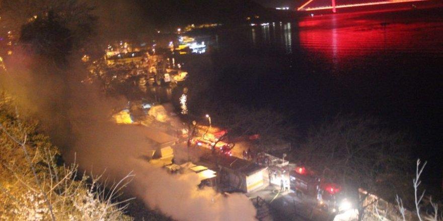 Sarıyer balıkçı barınağında patlama