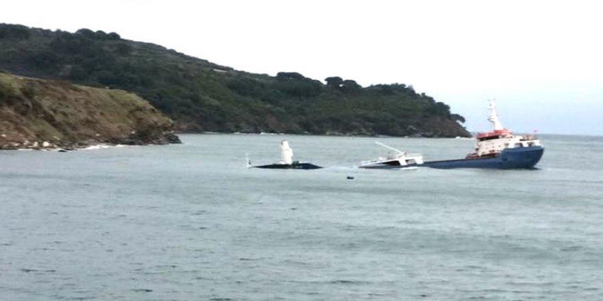 Marmara Adası'nda  gemi battı