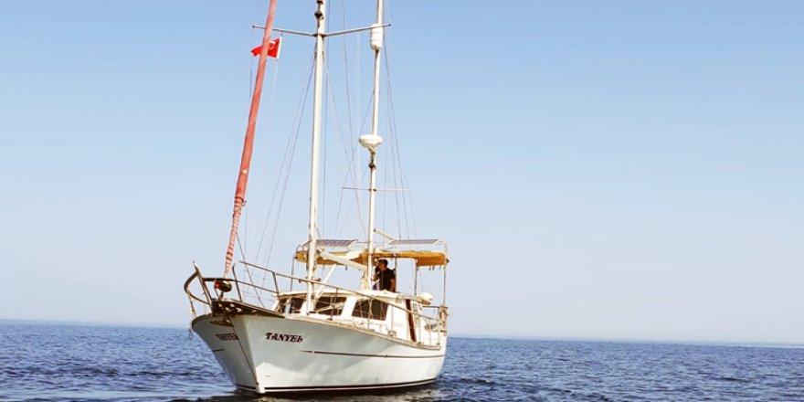 Çalınan tekne Gündoğan açıklarında bulundu
