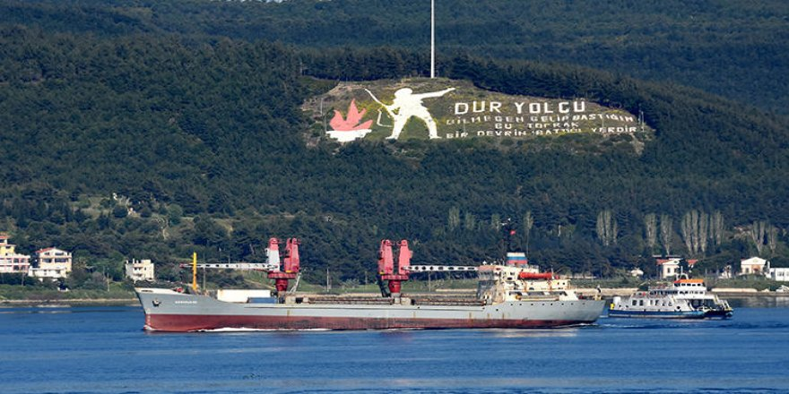 Rus askeri kargo gemisi Ege'ye açıldı