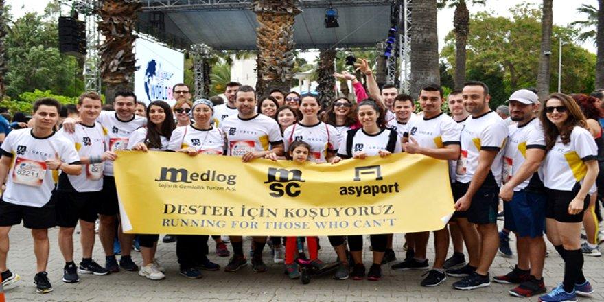MSC çalışanları, İzmir'de destek için koştu
