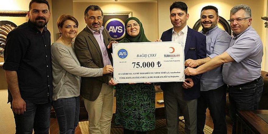 AVS'den Kızılay'a 75 bin TL'lik bağış