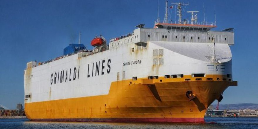 Grimaldi gemisinde yangın çıktı