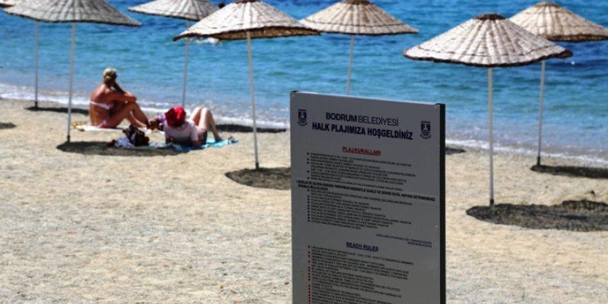 Bodrum plajlarında plastik şezlong olmayacak