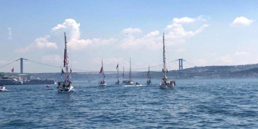 Atatürk rotasıyla yola çıkan tekneler Samsun'da buluşacak