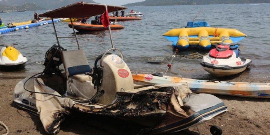Marmaris'te su sporları merkezi ateşe verildi
