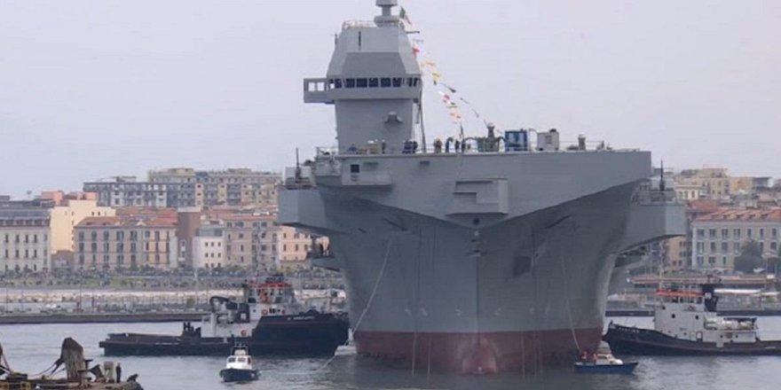 "İtalyanlar LHD gemisi ""Trieste"" denize indi"