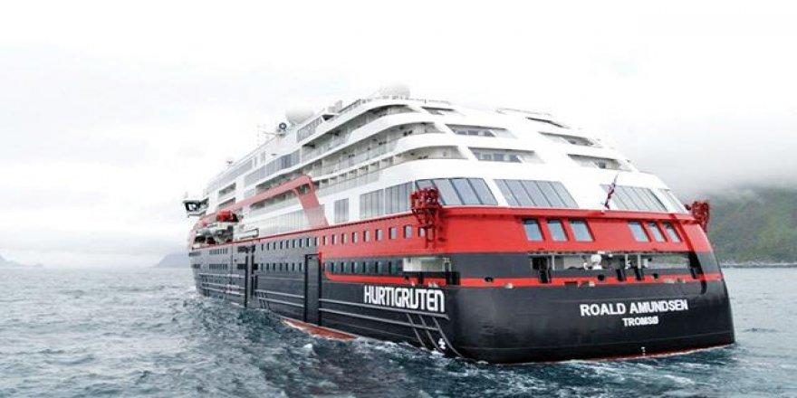 Elektrikli gemi Roald Amundsen ilk seferine çıktı