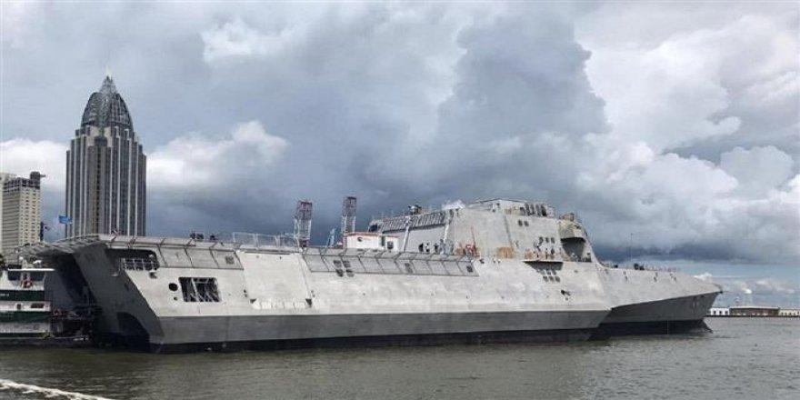 ABD Donanması yeni gemisi USS Oakland suya indi