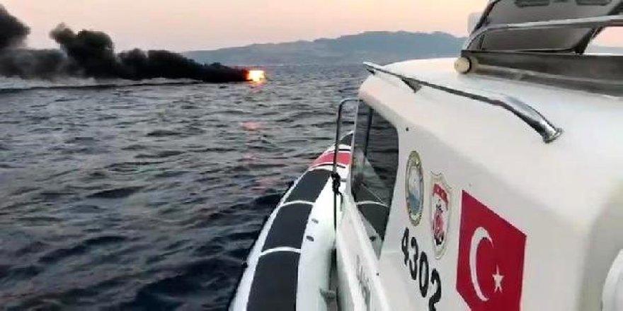 Bodrumda yanan teknedekileri SGK kurtardı