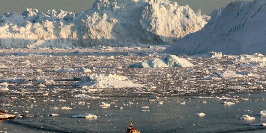 Su altındaki buzullar daha hızlı eriyor