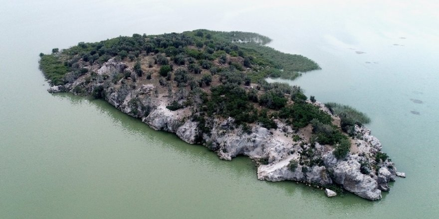 Ulubat Gölü'nde satılık ada