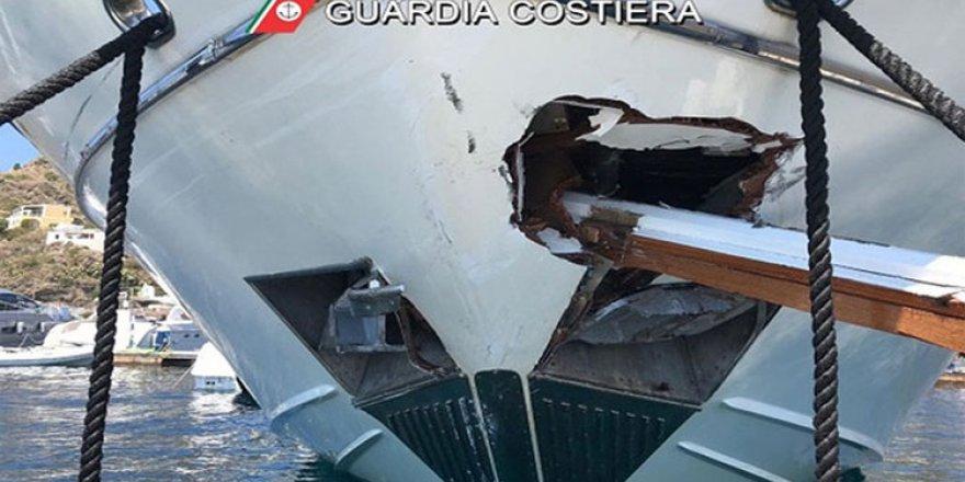 İtalya'da yat ve yolcu gemisi çarpıştı, 5 yaralı