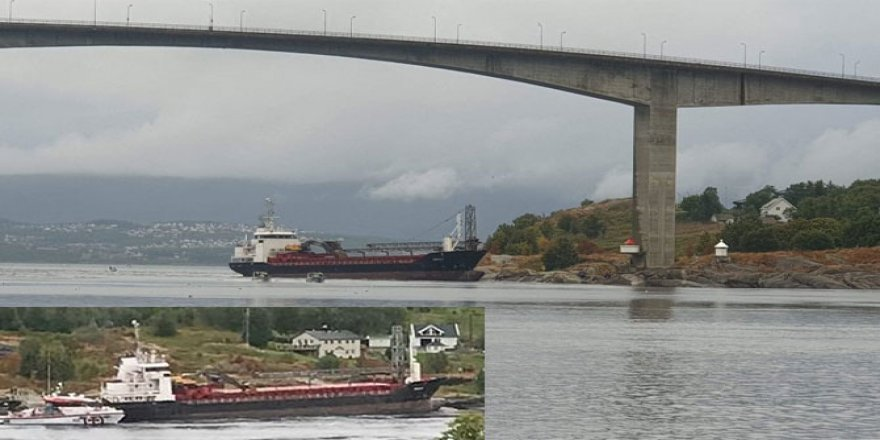 Kargo gemisi Norveç'te karaya oturdu