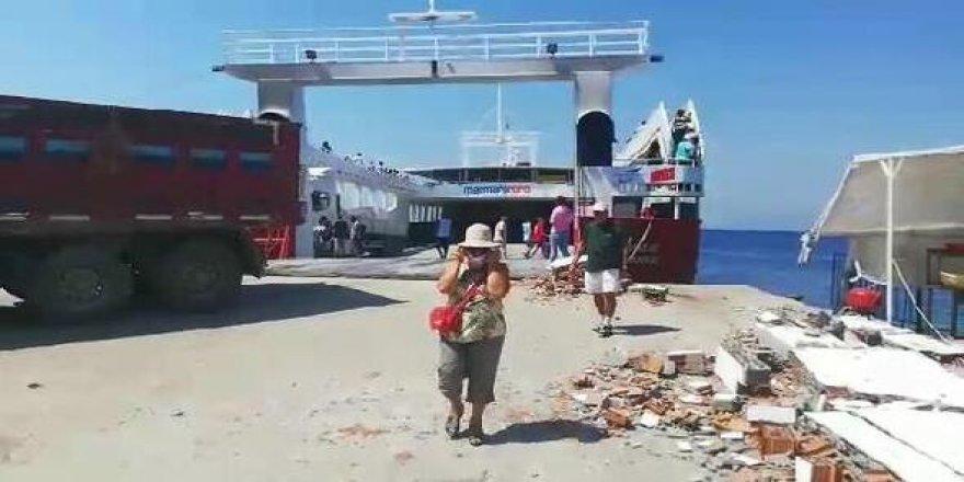 İskeleye çarpan feribottaki 7 kişi yaralandı