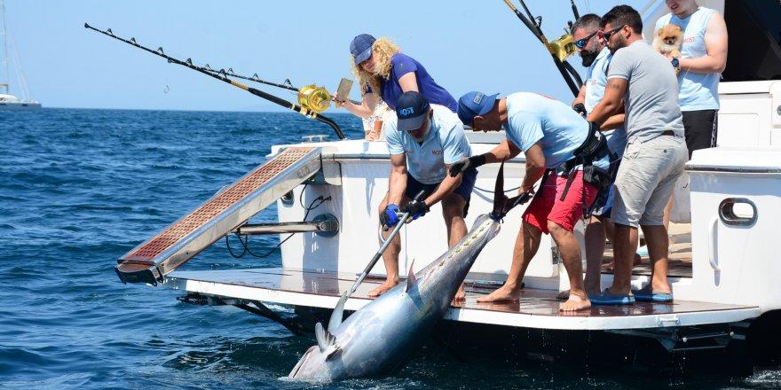 İş adamları en büyük balığı tutmak için yarıştı