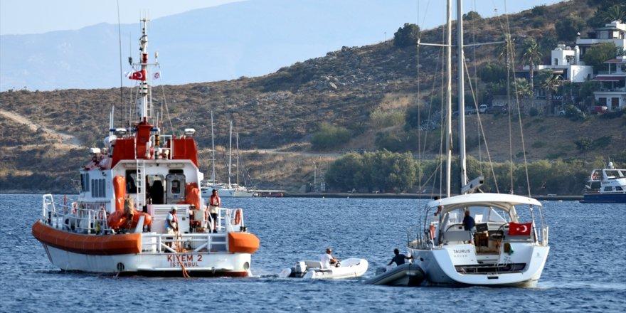 Bodrum'da teknede yangın çıktı