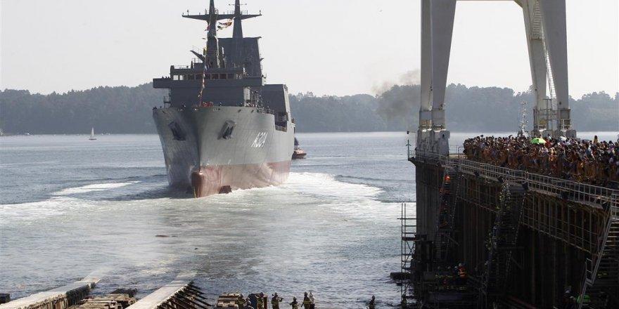 İkinci açık deniz ikmal gemisi denize indirildi