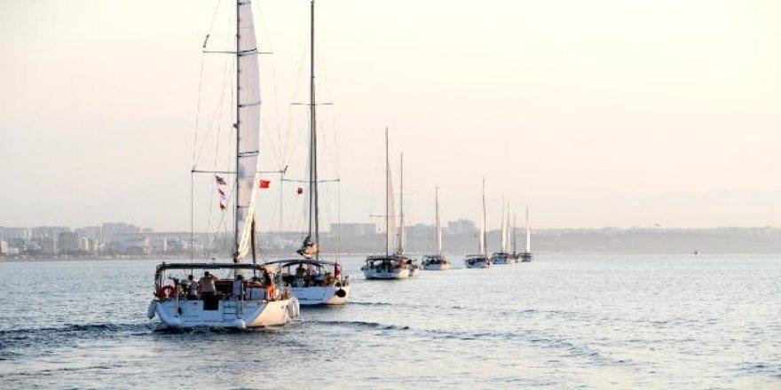 Yelkenliler Akdeniz'de 45 günde 1100 mil yapacak