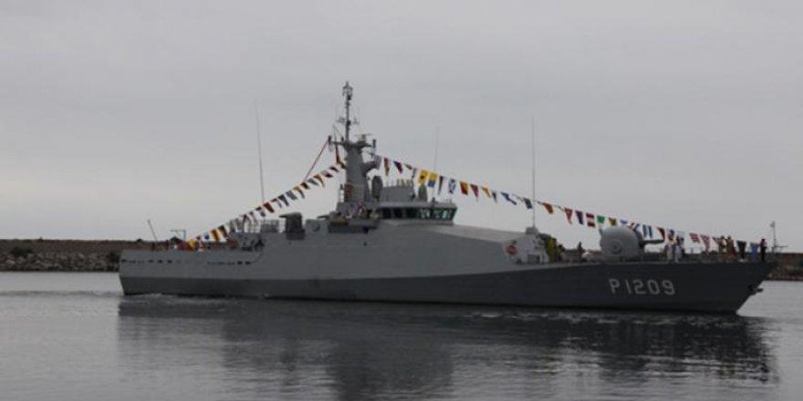 TCG KILIMLI askeri gemisi Hopaport'a demir attı