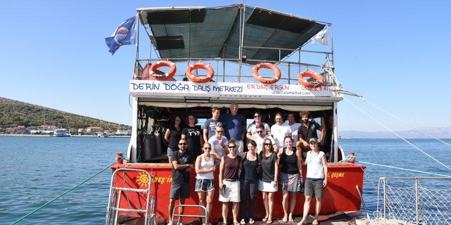 Alman dalgıçlar İzmir'de
