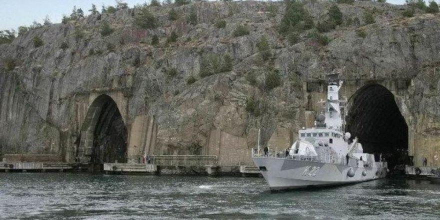 İsveç Deniz Kuvvetleri mağaraya konuşlandı
