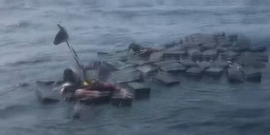 Alabora olan gemiden denize uyuşturucu saçıldı