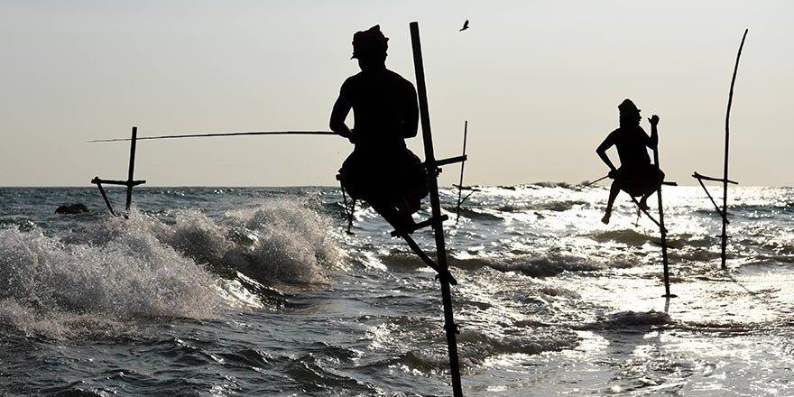 Sri Lanka'nın cambaz balıkçıları