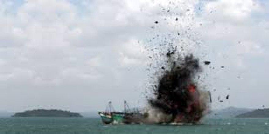 Yasadışı balık avlayan tekneler batırıldı