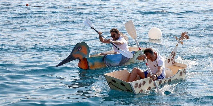 Göcek'te maket tekneler yarıştırıldı