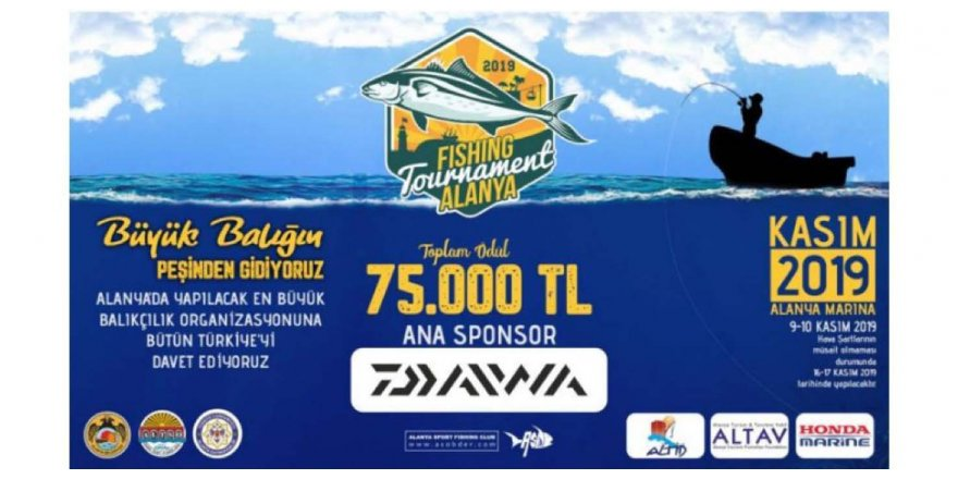 2.'nci Alanya Fishing Tournament başlıyor